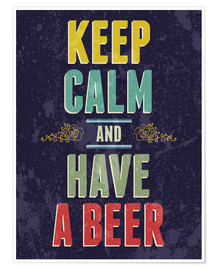 Poster  Keep calm and have a beer - Typobox