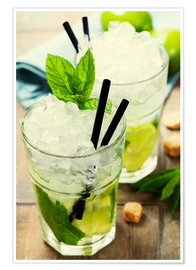 Poster  Cocktails mojitos