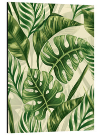 Tableau en aluminium  Monstera