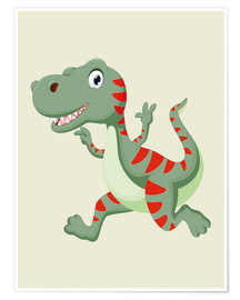 Poster  Dinosaure en train de courir - Kidz Collection