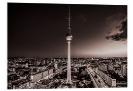 Tableau en PVC  Berlin TV Tower - Sören Bartosch