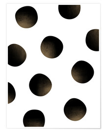 Poster Pois noirs