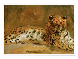 Poster  Reclining African Leopard - Max Slevogt