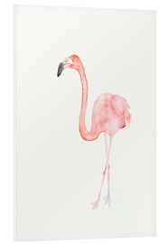 Tableau en PVC  Flamant rose - Dearpumpernickel