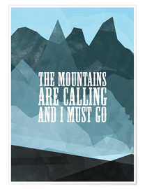 Poster The mountains are calling