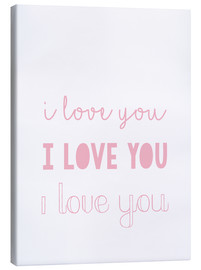 Tableau sur toile  I love you - Je t'aime, pastel - Finlay and Noa