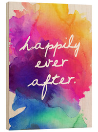 Tableau en bois  Happily Ever After - Finlay and Noa
