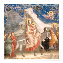 Poster  The Flight to Egypt - Giotto di Bondone