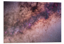 Tableau en PVC  The center of the Milky Way in Sagittarius and Scorpius. - Alan Dyer