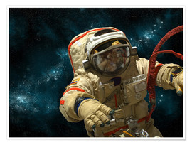 Poster  A cosmonaut against a background of stars. - Marc Ward