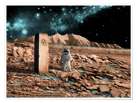 Poster  Astronaut on an alien world discovers an artifact that indicates past intelligent life. - Marc Ward