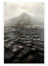 Poster Giant's Causeway at dawn