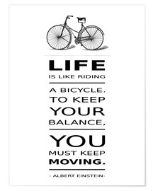 Poster Life is like riding