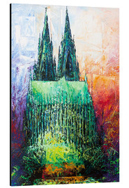 Tableau en aluminium  Cologne Cathedral Abstract - Renate Berghaus