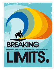 Poster Surfer, Breaking limits