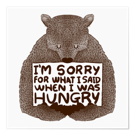 Poster  When I was hungry - Tobe Fonseca