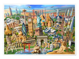 Poster  Collection de monuments - Adrian Chesterman
