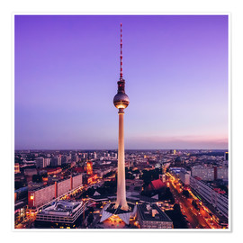 Poster Berlin - TV Tower Skyline