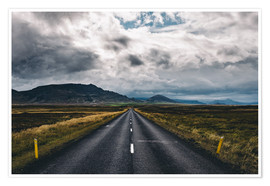 Poster Streets of Iceland # 1