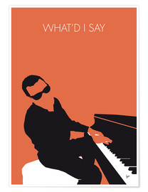 Poster Ray Charles, What'd I say