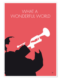 Poster Louis Armstrong, What a wonderful world