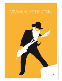 Poster ZZ Top, Gimme all your lovin'