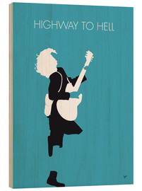 Tableau en bois  ACDC, Highway to hell - chungkong