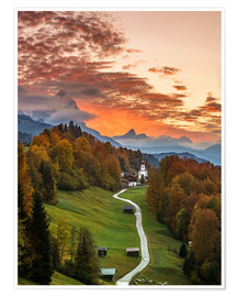 Poster Bavarian Sunset - Germany