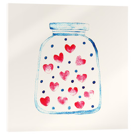 Tableau en verre acrylique  Un pot d'amour - Kidz Collection