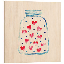 Tableau en bois  Un pot d'amour - Kidz Collection