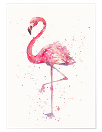 Poster  Flamant rose élégant - Sillier Than Sally