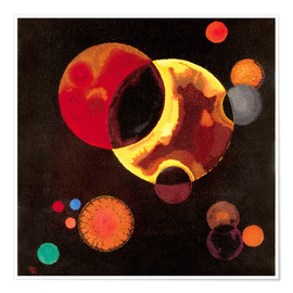 Poster  Cercles lourds - Wassily Kandinsky