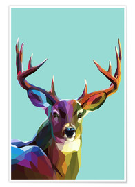 Poster  Cerf polygone - Kidz Collection