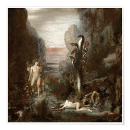 Poster  Hercules and the Lernaean Hydra - Gustave Moreau