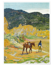 Poster  Le cheval - Walter Ufer