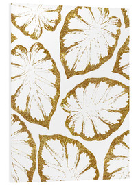 Tableau en PVC  Monstera Or - Uma 83 Oranges