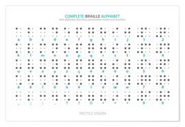 Poster  Alphabet braille (anglais) - Typobox