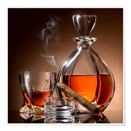 Poster  Cigare et whisky