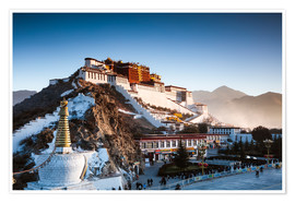 Poster  Famous Potala palace in Lhasa, Tibet - Matteo Colombo
