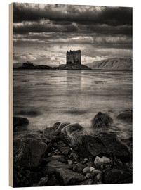 Tableau en bois  Castle Stalker, Scotland - Martina Cross