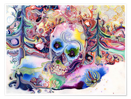 Poster  A Skull in the Forest - Josh Byer