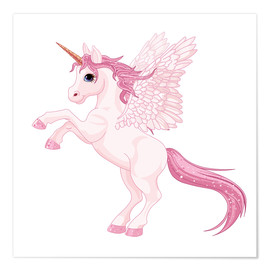 Poster  Ma licorne rose - Kidz Collection