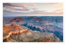 Poster Sunset over the Grand Canyon south rim, USA