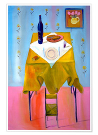 Poster  Small chair and big table - Diego Manuel Rodriguez