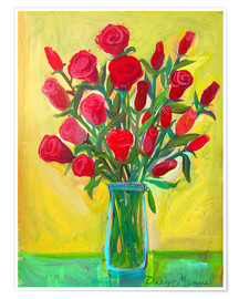 Poster Roses rouges III