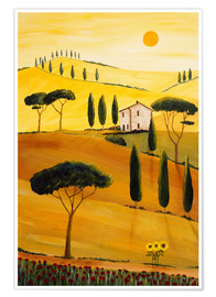 Poster  Colored Tuscany - Christine Huwer