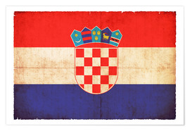 Poster  Old flag of Croatia in grunge style - Christian Müringer
