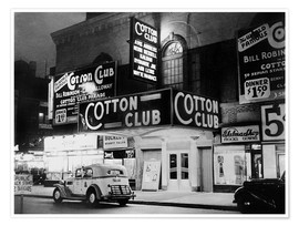 Poster  Cotton Club à Harlem, New York