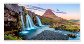 Poster Magical Iceland, Waterfall on Snaefellsnes