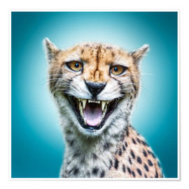 Poster Funny Wild Faces Cheetah